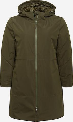Zizzi Płaszcz zimowy w kolorze zielony