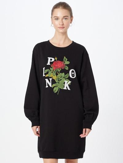 PINKO Šaty - okrová / zelená / červená / černá / bílá, Model/ka