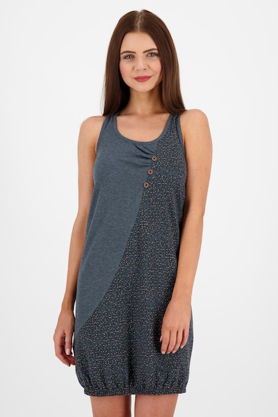 Alife and Kickin Kleid 'Cameron' in taubenblau / pastellpink / schwarz, Modelansicht