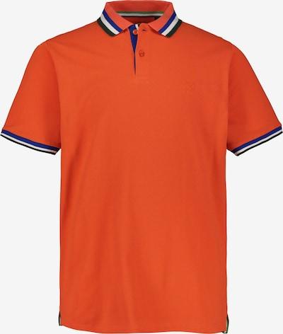 JP1880 Shirt in blau / grün / dunkelorange / weiß: Frontalansicht