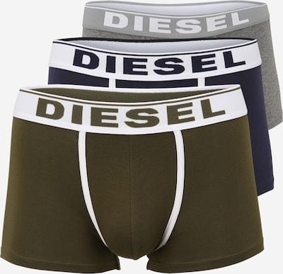 DIESEL Boxershorts in navy / graumeliert / khaki / weiß, Produktansicht