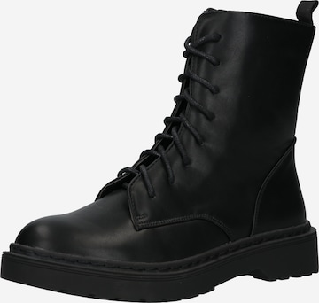 rubi Lace-Up Ankle Boots 'FREDA COMBAT' in Black
