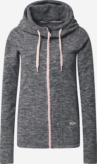 ROXY Sportsweatjacke 'ELECT FEELIN' in dunkelgrau / pastellpink, Produktansicht