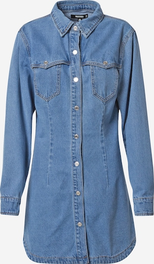 Missguided Kleid 'WESTERN YOKE' in blue denim, Produktansicht