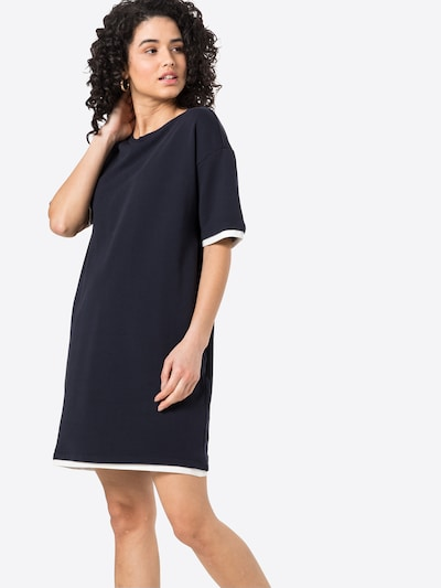 EDC BY ESPRIT Kleid in navy / weiß, Modelansicht