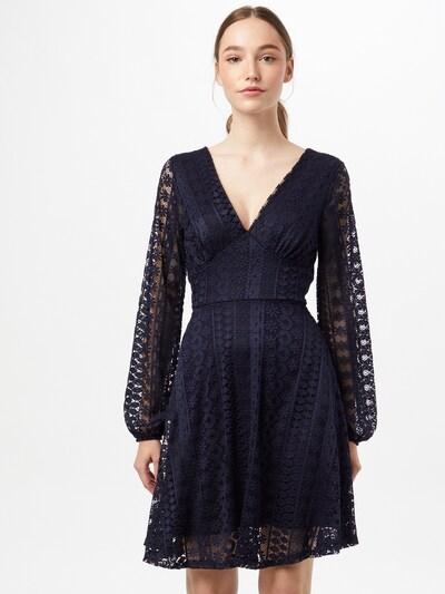 Mela London Vestido de gala en azul oscuro, Vista del modelo