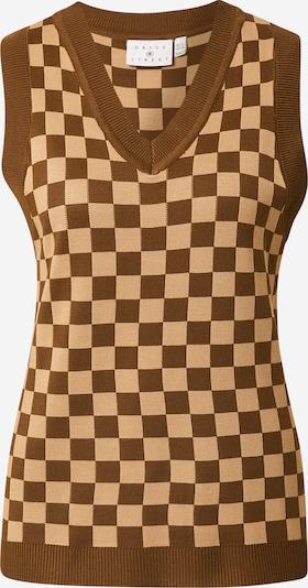 Daisy Street Adīta veste, krāsa - bēšs / brūns, Preces skats