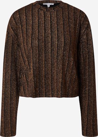 EDITED Shirt 'Franziska' in de kleur Brons / Zwart, Productweergave