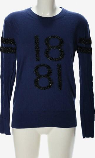 CERRUTI 1881 Rundhalspullover in XL in blau / schwarz, Produktansicht