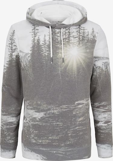 TOM TAILOR DENIM Sweatshirts in grau / weiß, Produktansicht