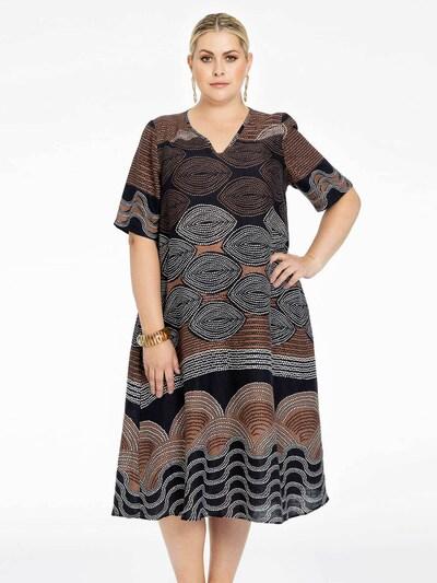 Yoek Kleid ' Mocha ' in schwarz / weiß, Modelansicht