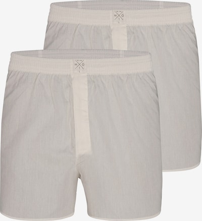 MG-1 Web-Boxershorts ' 2-Pack Single Colour White ' in beige, Produktansicht