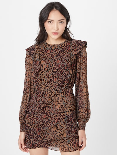 AllSaints Kleid 'Elodie' in braun / grau / schwarz, Modelansicht
