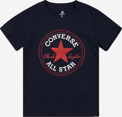 CONVERSE T-Shirt in grenadine / schwarz / weiß, Produktansicht