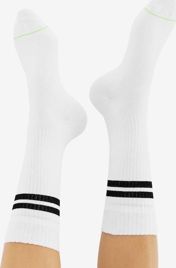 CHEERIO* Socken 'TENNIS TYPE 4P' in weiß: Rückansicht