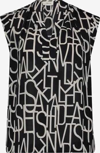 Cartoon Kurzarm-Bluse mit Muster in schwarz / weiß, Produktansicht