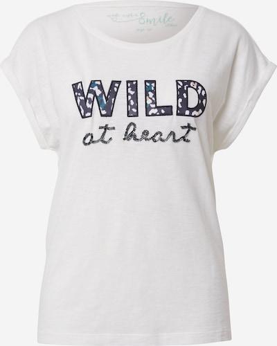 s.Oliver T-Shirt in schwarz / offwhite, Produktansicht