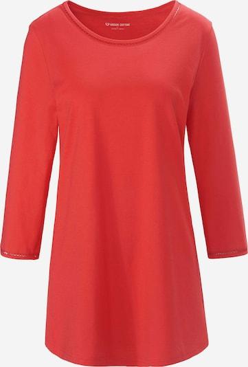 Green Cotton Shirt in de kleur Rood, Productweergave