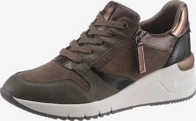 bronz / khaki / fekete TAMARIS Rövid szárú edzőcipők, Termék nézet