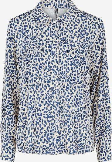 PIECES Blus 'Adua' i kräm / marinblå: Sedd framifrån