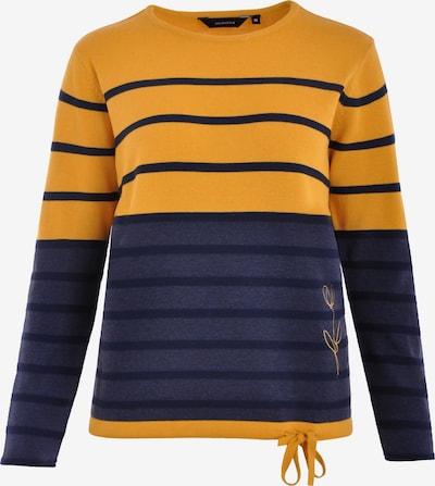 Navigazione Pullover in dunkelblau / honig, Produktansicht