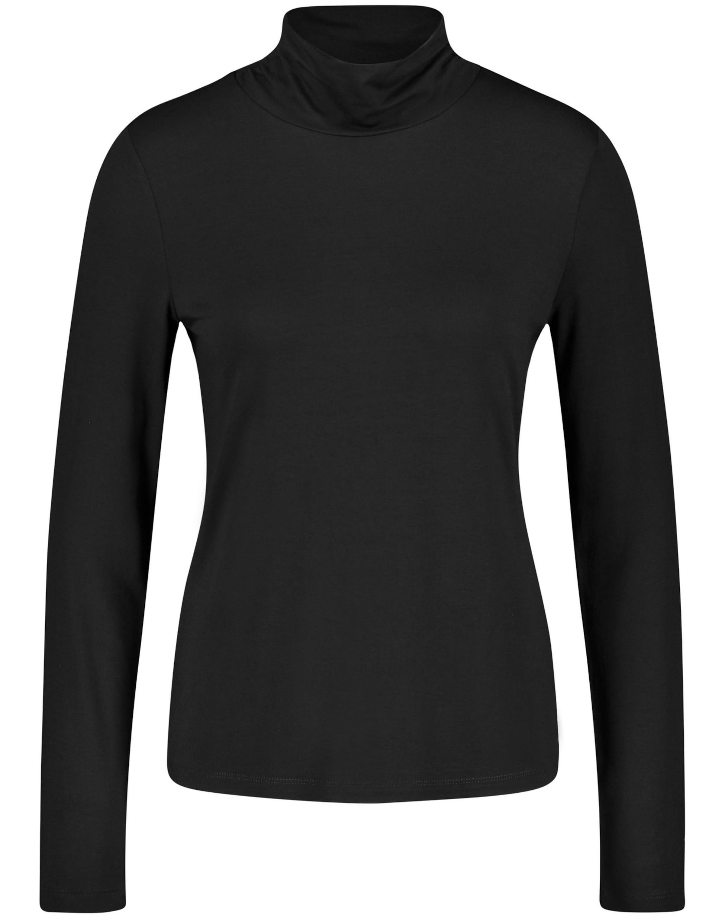 TAIFUN Rollkragenshirt in schwarz