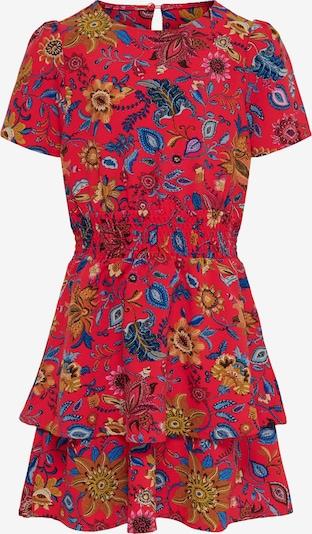 KIDS ONLY Kleid 'Frida' in hellblau / dunkelblau / senf / pitaya, Produktansicht
