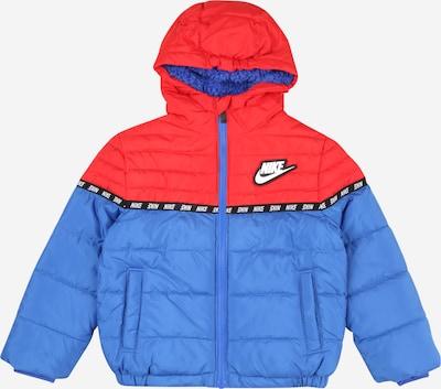 Nike Sportswear Veste d'hiver en bleu roi / rouge clair / noir / blanc, Vue avec produit