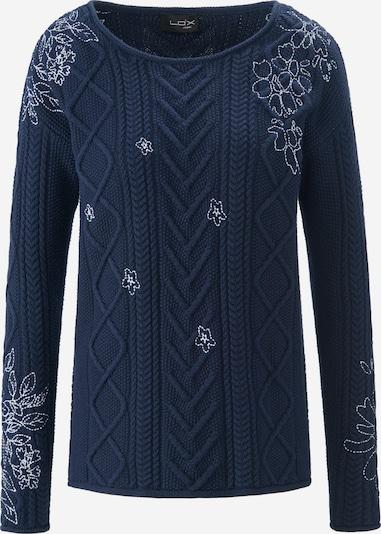 Looxent Pullover Rundhals-Pullover in blau, Produktansicht