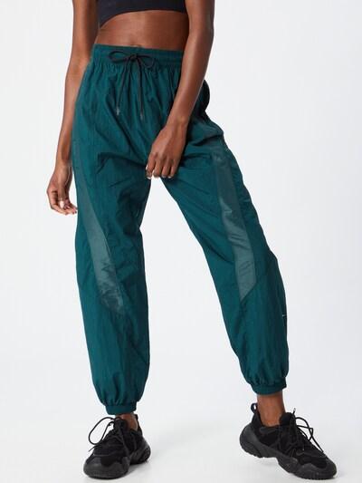 Pantaloni sport 'Shiny Woven' REEBOK pe verde închis: Privire frontală