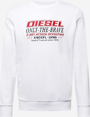 DIESEL Sweatshirt 'GIRK' in Weiß
