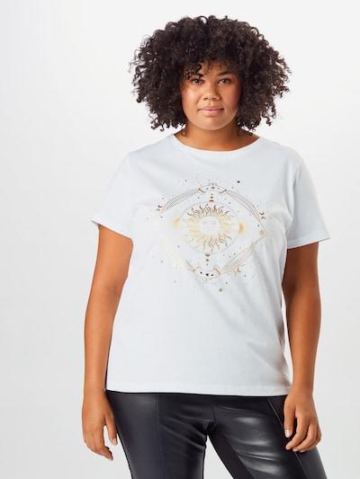 ONLY Carmakoma Koszulka 'Barney Life' w kolorze białym: Widok z przodu