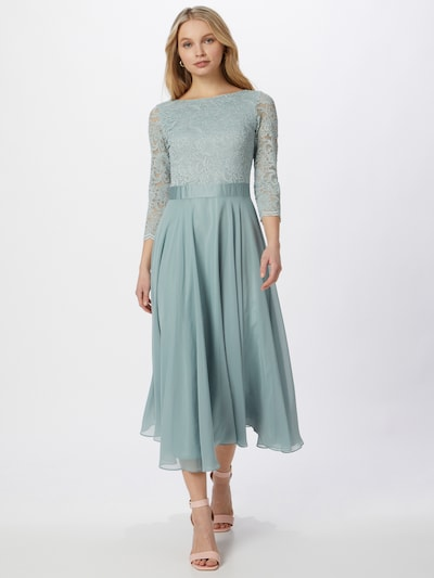 SWING Evening dress in pastel green: Frontal view
