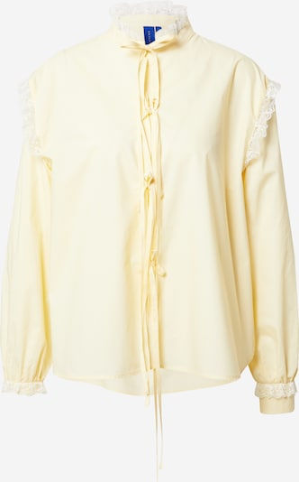 Résumé Blouse 'Edith' in Light yellow / White, Item view