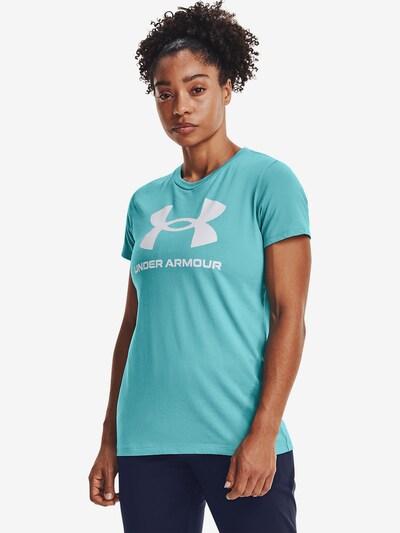 UNDER ARMOUR Functioneel shirt in de kleur Turquoise / Wit: Vooraanzicht