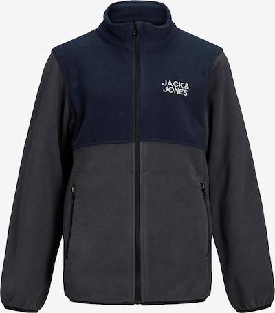 Jack & Jones Junior Fleecetakki värissä sininen / harmaa / valkoinen, Tuotenäkymä
