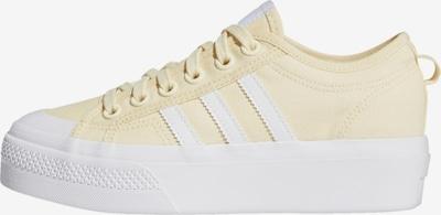 ADIDAS ORIGINALS Sneaker 'Nizza Platform' in hellgelb / weiß, Produktansicht