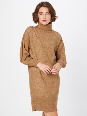 PIECES Kleid 'Fabia' in Braun