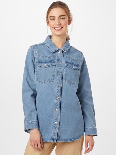 PIECES Prehodna jakna 'PCGRA' | modra barva: Frontalni pogled