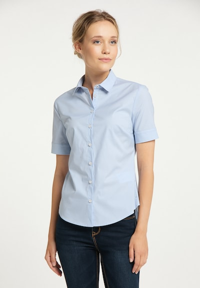DreiMaster Maritim Bluse in hellblau, Modelansicht