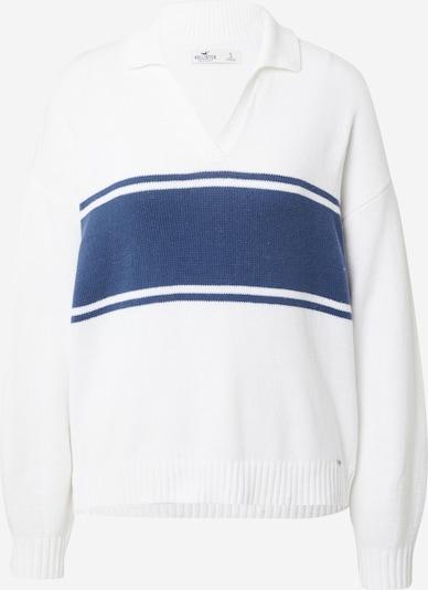 HOLLISTER Pull-over en bleu foncé / blanc, Vue avec produit