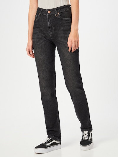 PULZ Jeans Jeans in black denim, Modelansicht