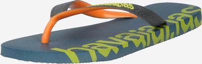 HAVAIANAS Сандали с разделител за пръстите 'LOGOMANIA' в синьо / жълто / оранжево, Преглед на продукта