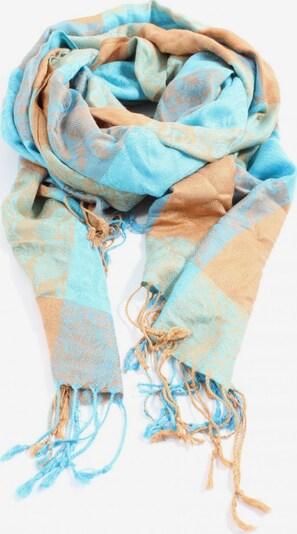 Pashmina Fransenschal in One Size in nude / blau, Produktansicht