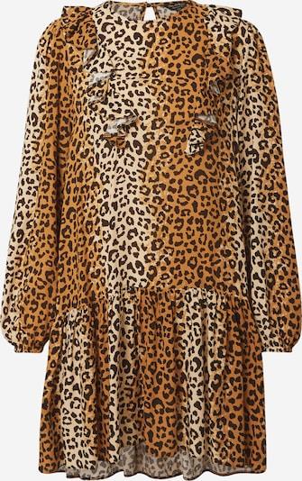 Miss Selfridge Kleid 'FRIL' in beige / braun / dunkelbraun, Produktansicht