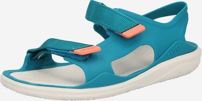 Crocs Sandale in petrol / orange / weiß, Produktansicht