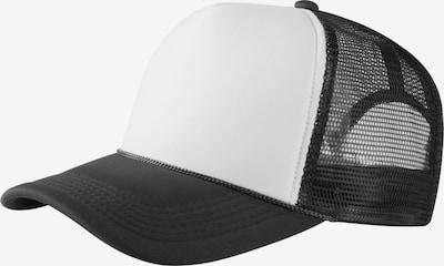 MSTRDS Sportcap 'Baseball Cap Trucker high profile' in schwarz / weiß, Produktansicht