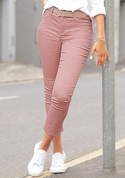 LASCANA Jeggings in rosa, Modelansicht
