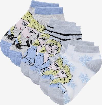 Disney Die Eiskönigin Socken in rauchblau / graumeliert / weiß, Produktansicht