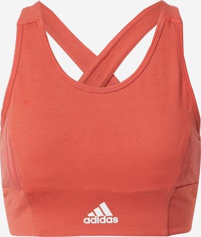 ADIDAS PERFORMANCE Sport-BH in orangerot / weiß, Produktansicht